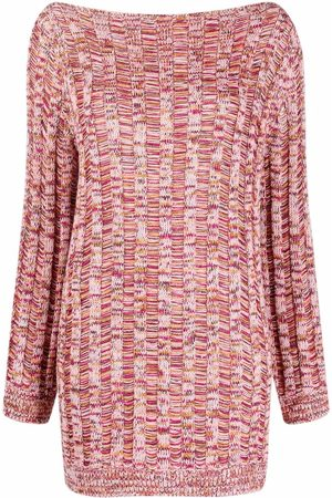 M Missoni Ribbed speckled-knit fitted dress