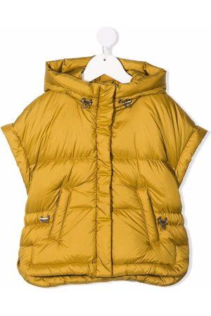 Il Gufo Hooded short-sleeve down jacket