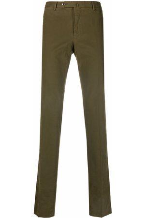 PT01 Men Straight Leg Pants - Straight-leg cotton-blend trousers