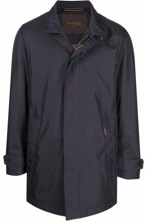 Moorer Single-breasted high-neck coat