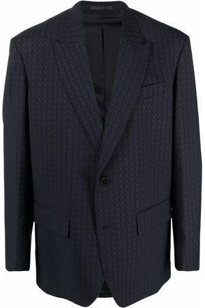 Valentino Men Blazers - Monogram-jacquard wool jacket