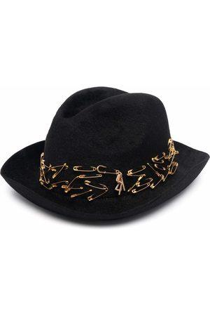 Ruslan Baginskiy Safety pin embellishment felt fedora hat