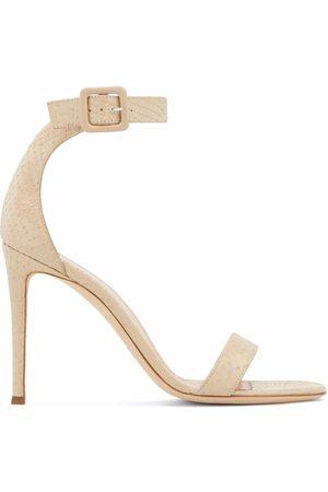 Giuseppe Zanotti Women Heeled Sandals - Neyla snakeskin-effect high-heel sandals - Neutrals