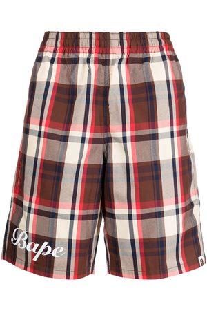 A BATHING APE® Men Bermudas - Plaid bermuda shorts
