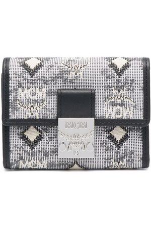 MCM Tri-fold monogram jacquard wallet - Grey