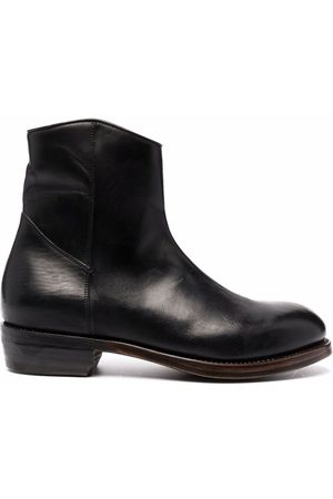 Ajmone Zip-up leather ankle-boots