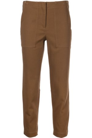 Theory Women Pants - Treeca cotton-blend cropped trousers