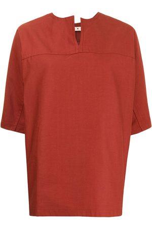 Marni Notched-collar short-sleeve blouse