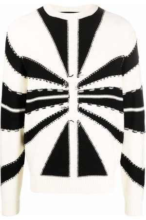John Richmond Two-tone knit jumper - Neutrals