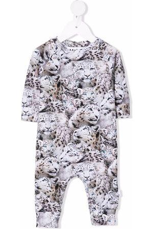 Molo Leopard print romper - Grey