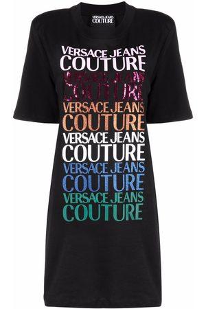 Versace Jeans Couture Logo-print T-shirt dress