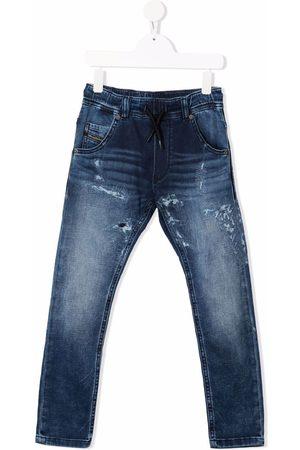 Diesel Kids Elasticated-waist straight-leg jeans