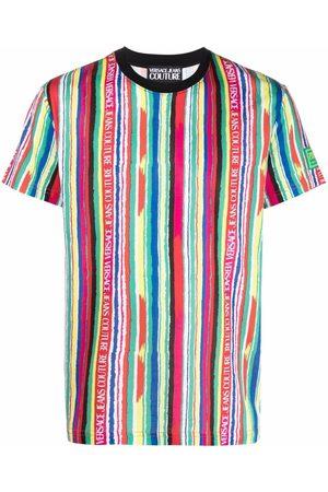 Versace Jeans Couture Pride Project logo-trim short-sleeve T-shirt