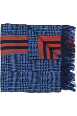 Etro Men Scarves - Houndstooth check wool scarf