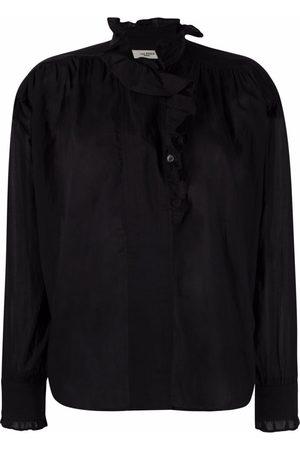 Isabel Marant Women Blouses - Ruffled cotton blouse