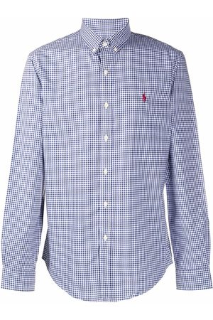 Polo Ralph Lauren Men Polo Shirts - Polo Pony-embroidered checked shirt