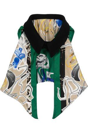Maison Margiela Women Scarves - Oversized collar draped scarf