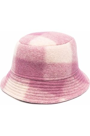 Isabel Marant Tartan-check bucket hat