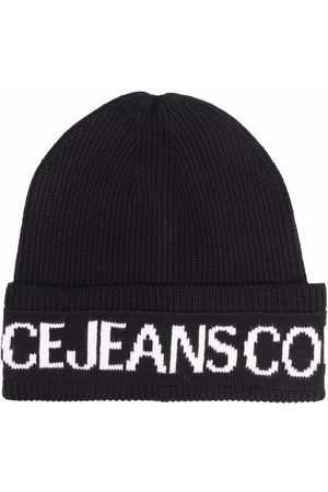 Versace Jeans Couture Women Beanies - Logo embroidered beanie hat