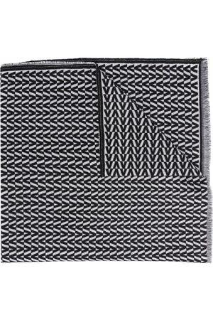 VALENTINO Monogram-jacquard scarf