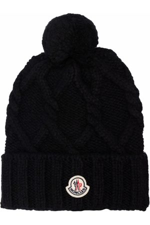 Moncler Logo-patch knitted beanie