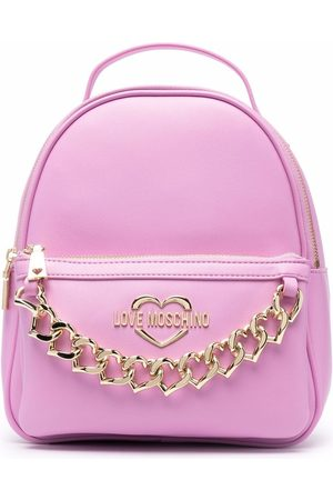 Love Moschino Logo-plaque backpack