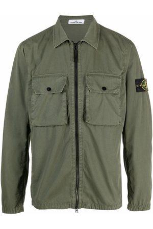 Stone Island Logo-patch shirt jacket