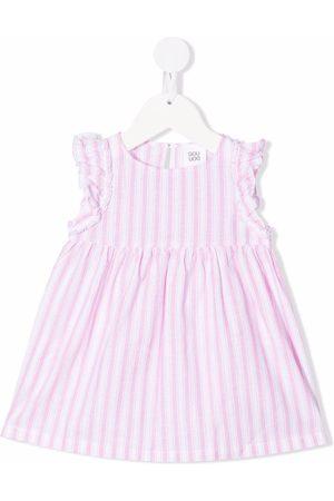 DOUUOD KIDS Baby Casual Dresses - Ruffle-sleeve striped dress