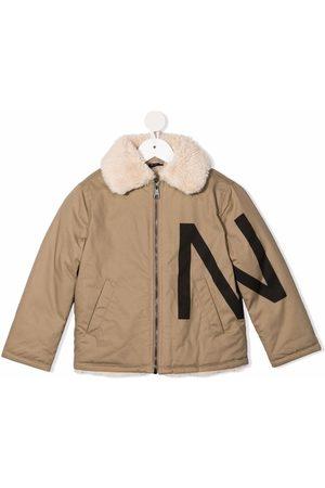 Nº21 Logo-print jacket - Neutrals