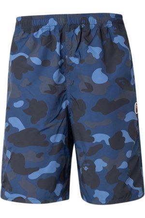 A Bathing Ape Color Camo beach shorts