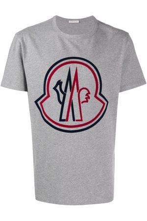 Moncler Debossed-logo short-sleeve T-shirt - Grey