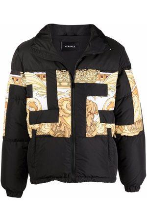 VERSACE Greca-print padded jacket