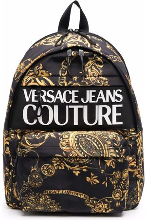 VERSACE Baroque-print zipped backpack