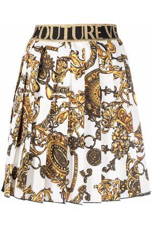VERSACE Barocco-print pleated skirt