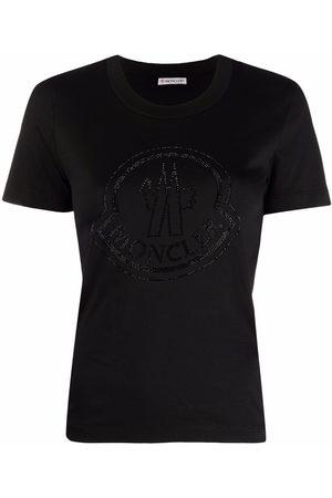 Moncler Embellished-logo short-sleeve T-shirt