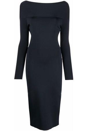 Victoria Beckham Women Bodycon Dresses - Boat-neck fitted dress