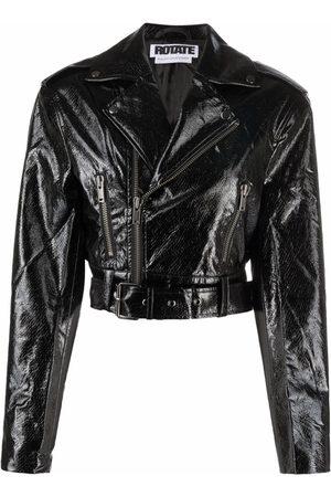 ROTATE Jamie cropped biker jacket
