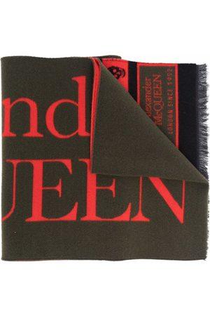 Alexander McQueen Logo-print knitted scarf