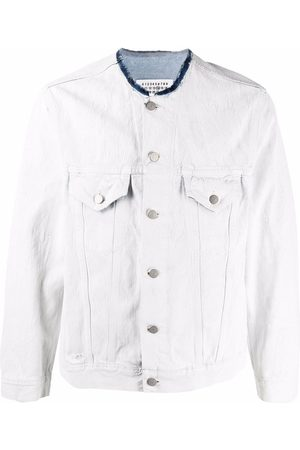 Maison Margiela Raw-cut collar denim jacket