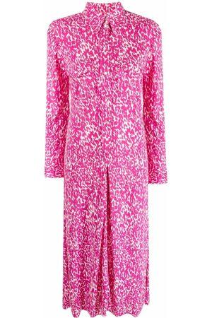 Isabel Marant Women Printed Dresses - Leopard-print shirt dress