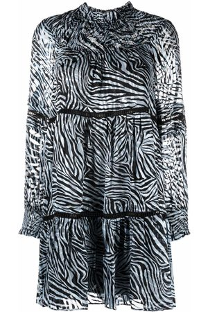 Michael Kors Women Printed Dresses - Zebra-print long-sleeved dress