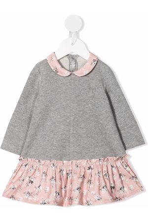 Il Gufo Sweatshirt-ruffled dress - Grey