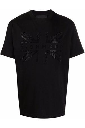 John Richmond Studded-logo cotton T-shirt