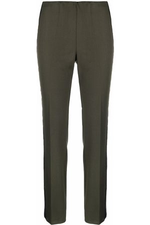 P.A.R.O.S.H. Frayed-stripe trousers