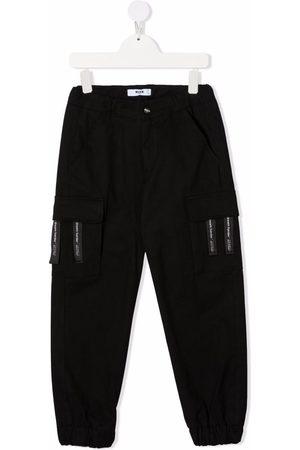 Msgm Boys Cargo Pants - Stretch-cotton cargo trousers