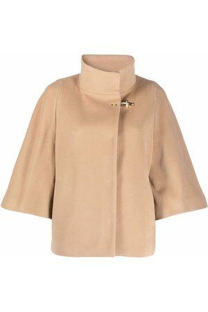 FAY Women Ponchos & Capes - High-neck jacket - Neutrals