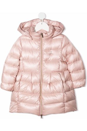 HERNO Girls Puffer Jackets - Feather-down hooded puffer jacket
