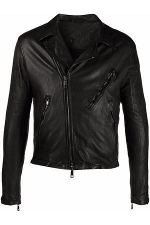 GIORGIO BRATO Zip-up leather biker jacket