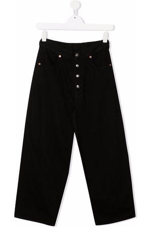 MM6 KIDS TEEN button-detail wide-leg jeans