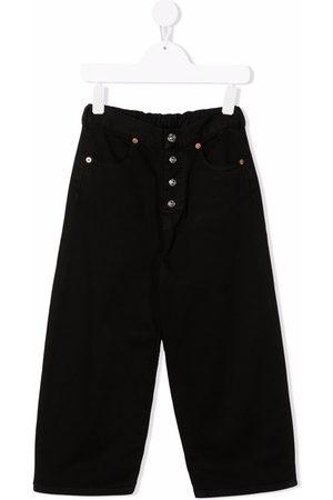 MM6 KIDS Button-detail wide-leg jeans